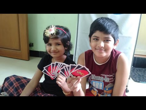 How to play UNO card GAME in Tamil/my kids playing UNO cards/No edit video😊 |