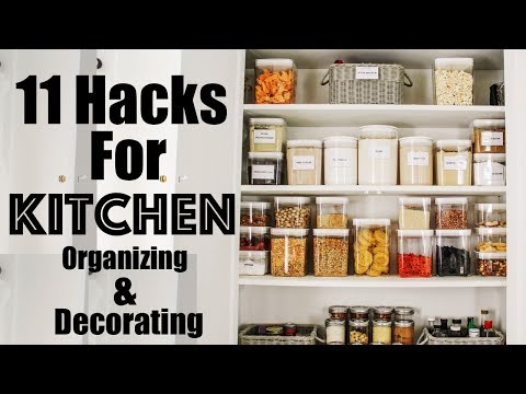 11 HACKS to Decorating and Organizing a SMALL Kitchen | Making the Most of Our Small Kitchen