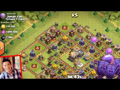 Clash of Clans - ATTACKING THE REAL JORGE YAO! EPIC LEGEND LEAGUE ATTACKS!