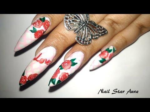 Rose Day Nail Art Design tutorial | Valentine's Aura Day 1 (2019) | Nail Star Aura thumbnail