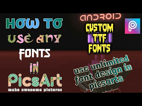 How To Download Font For Picsart || Custom Ttf Font Download ||