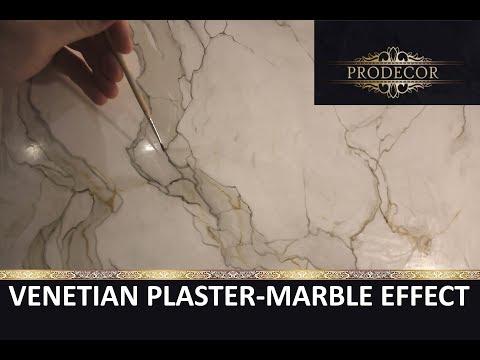 Венецианская штукатурка под мрамор / Stucco Veneziano / marmble effect Calacatta /  Venetian plaster
