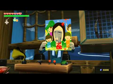 Zelda Windwaker Heart Piece #5 Windfall Battleship Treasure Chart #23