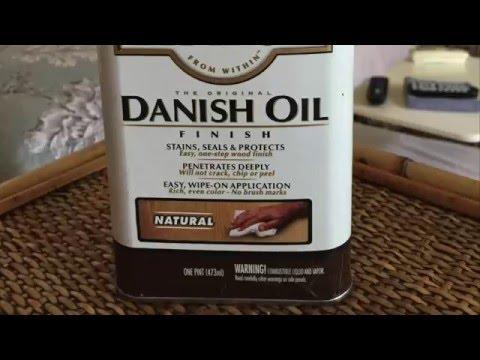 Easy way to make old wood floors Pretty again - Watco Danish Oil