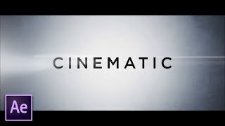 Create Clean Cinematic Trailer Titles | After Effects Tutorial