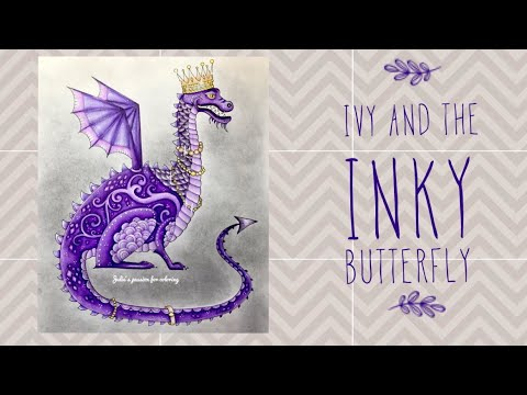 IVY AND THE INKY BUTTERFLY by Johanna Basford - prismacolor pencils - color along