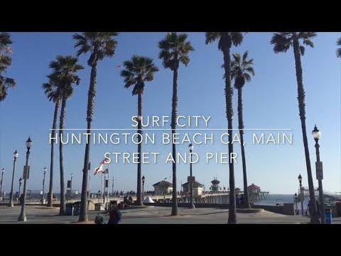 Huntington Beach Pier & Main Street (Surf City) California - Vlog