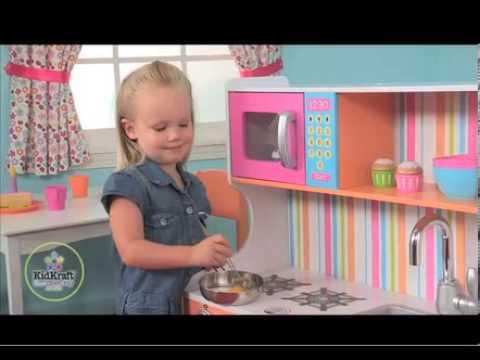 Kidkraft Bright Toddler Kitchen Youtube