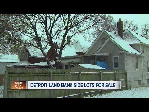 Detroit Land Bank side lots for sale