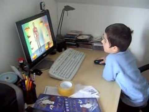 Child assembling virtual human body