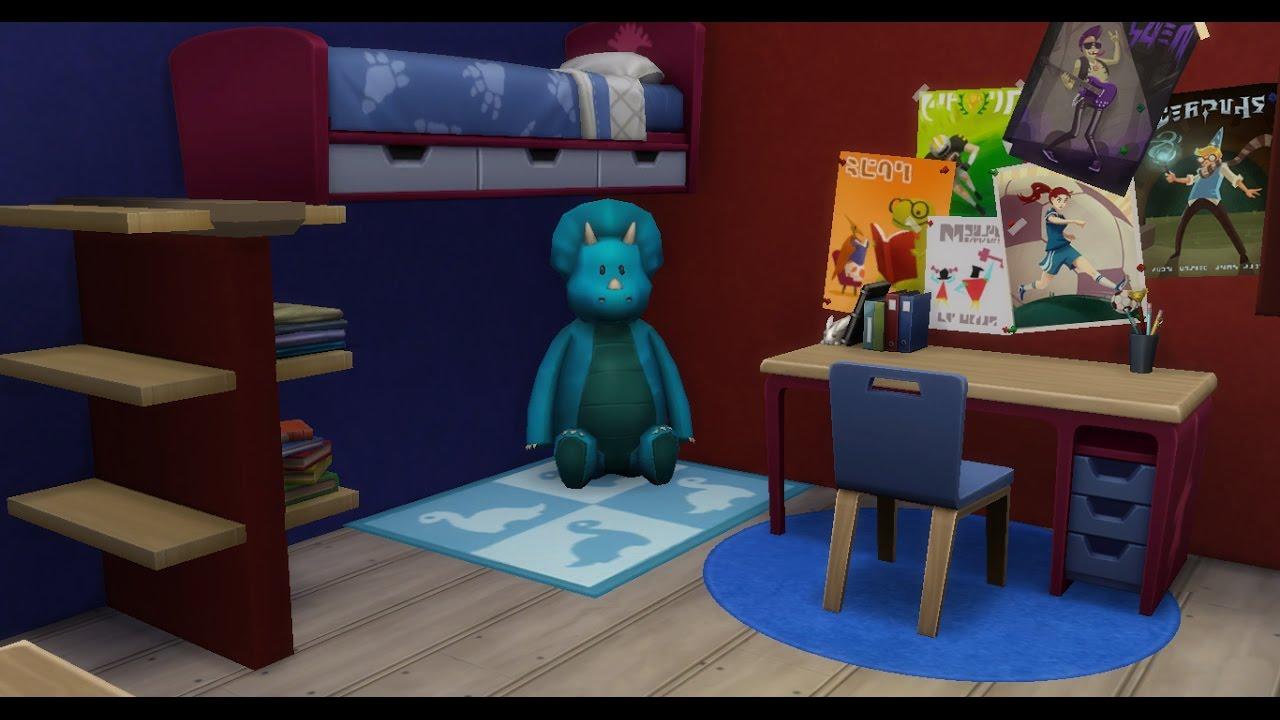 Pokój dla chłopca bez modów/Sims4 budowa - YouTube