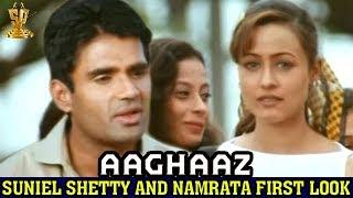 sunil shetti & namratha first look Aaghaaz (hindi )