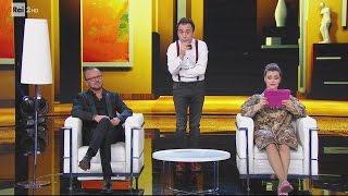 Gennaro Calabrese con Gigi D'Alessio e Fatima Trotta - Made in Sud 21/03/2017