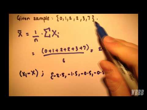 Mean | Deviations | Sum of Squared Deviations | Sample Variance | Example