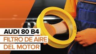 Cómo cambiar Elemento filtro de aire AUDI 80 (8C, B4) - vídeo guía