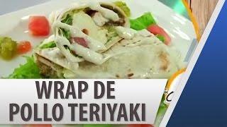 Wrap - Tortilla De Harina De Pollo Teriyaki / Recetas De Comida