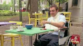 Disabled Man Spills Soup In His Crotch