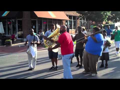 second line honoring clara luper: when the saints go marching