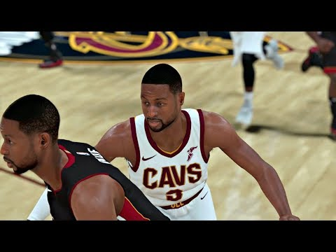 NBA 2K18 | Cavs vs Heat Gameplay (2nd Half) .... Dwayne Wade Signs with the Cavs... but what if???