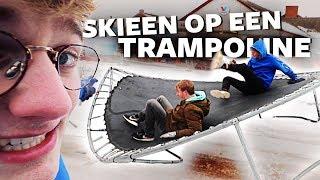 TRAMPOLINE OP SKIES!!! | Trampoline
