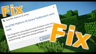 [FIX] Java(TM) Platform SE binary funktioniert nicht[FIX] Tutorial Deutsch [Quados]