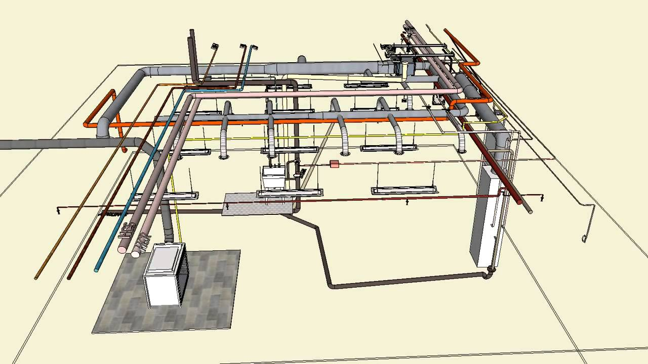 mechanical electrical typical 3d sketchup youtube rh youtube com Light Switch Wiring Diagram Basic Residential Electrical Wiring Diagram