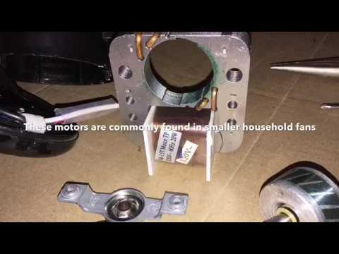 Parts of an ac shaded pole motor youtube for What is a shaded pole motor