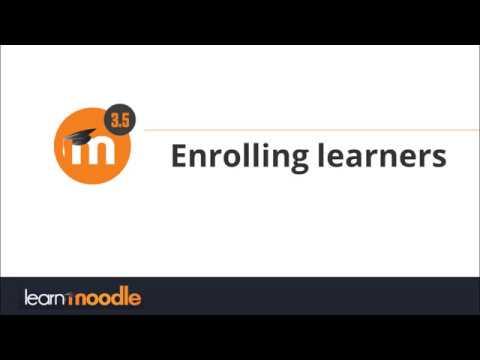 Enrolling learners in Moodle 3.5