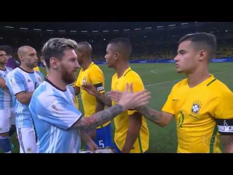Brasil x Argentina   Eliminatórias da Copa 2018   Jogo Completo