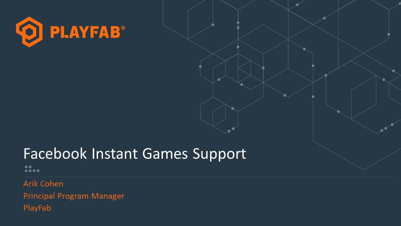 PlayFab and Facebook Instant Games
