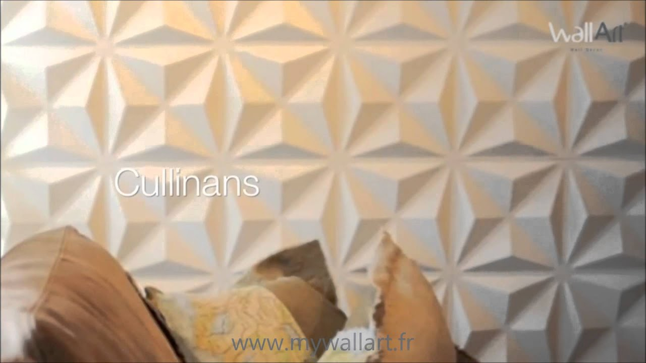Revetement mural 3d cullinans panneaux muraux 3d youtube for Revetement mural 3d