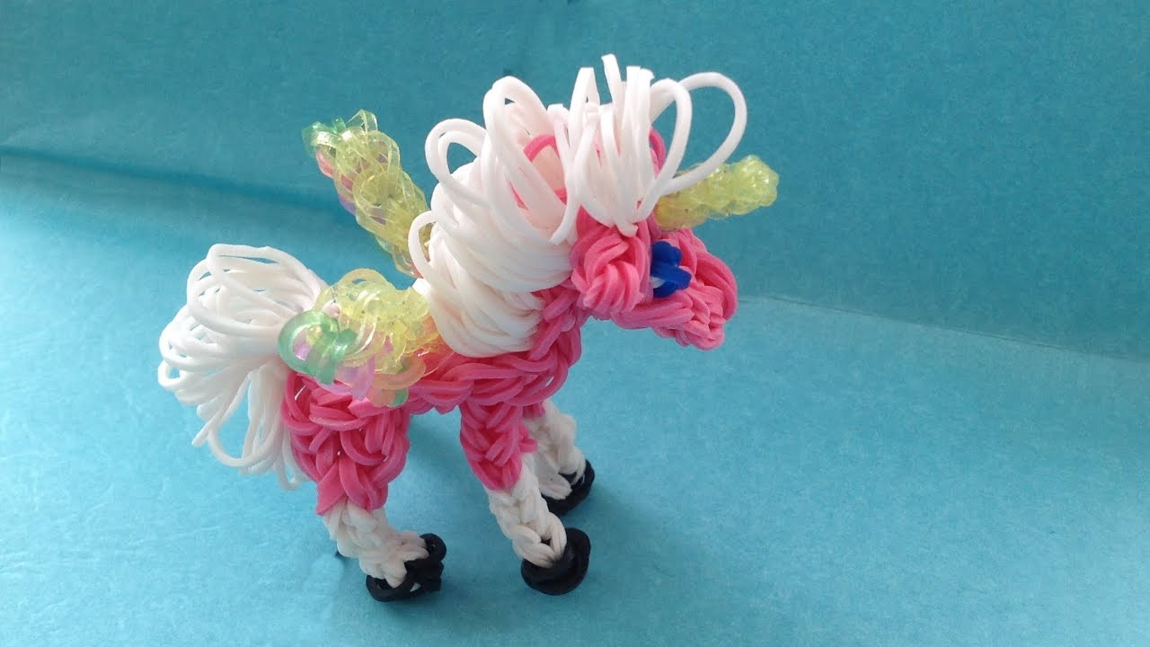 Bevorzugt Rainbow Loom UNICORN / PEGASUS Charm (DIY Mommy Animals) - YouTube MM94