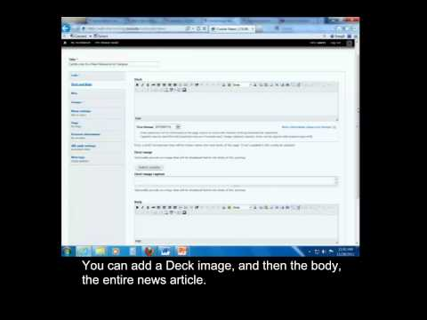 Creating a News Article