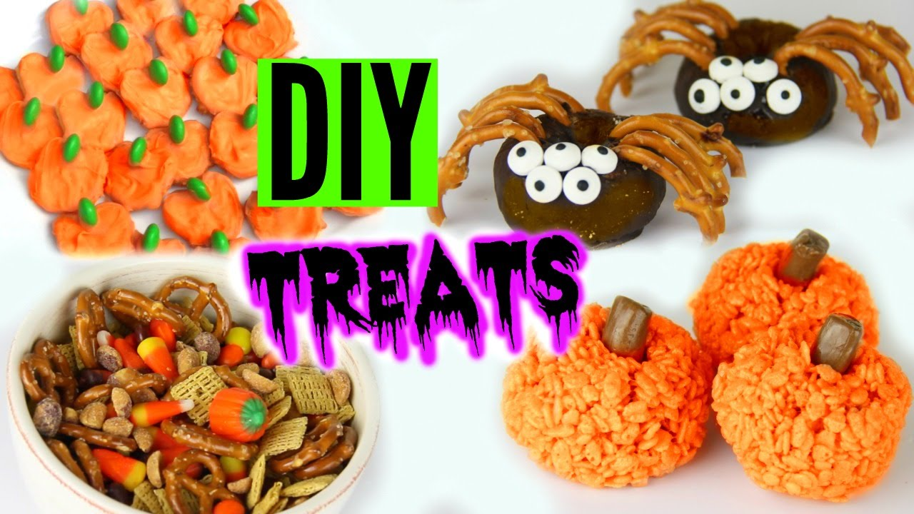 DIY Halloween Treats 2015 ! Yummy Pinterest Inspired Treats! - YouTube
