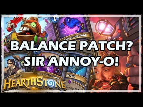 BALANCE PATCH? SIR ANNOY-O! - Boomsday / Hearthstone
