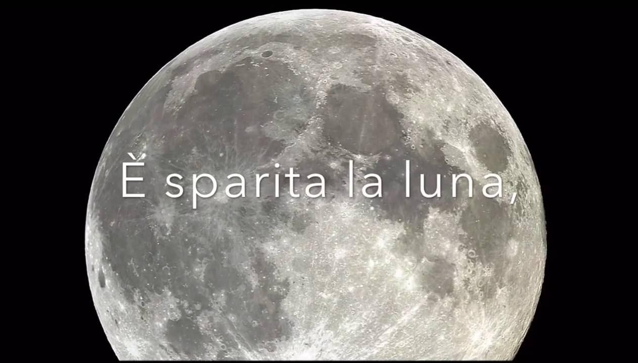 È sparita la luna saffo