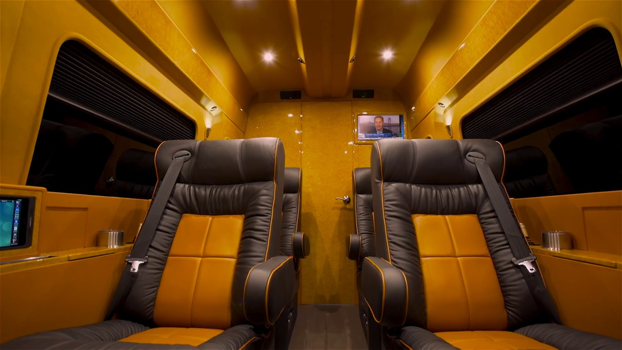 the ultimate mercedes sprinter van mobile office lexani. Black Bedroom Furniture Sets. Home Design Ideas
