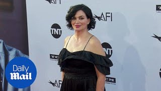 Karen Duffy is bold in black at George Clooney AFI event