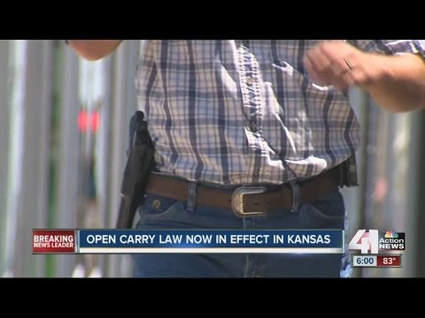 Open carry now legal in Kansas