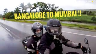 BANGALORE TO MUMBAI | AS A PILLION