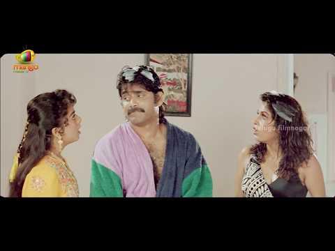 Nagarjuna and his twin brother messing with Ramya Krishna - Hello Brother Scenes
