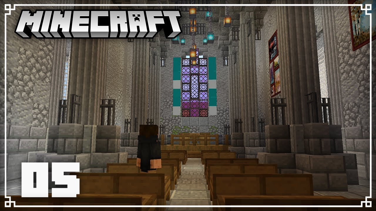 Building the Church Interior & Netherite Mining!   Minecraft 1.16 Survival Lets Play