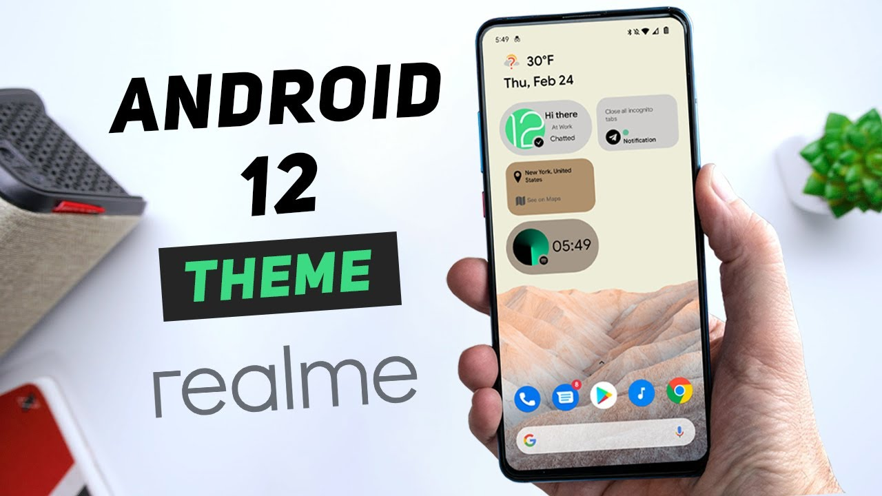 Android 12 theme for Realme and Oppo devices