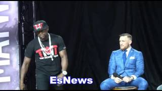 Floyd Mayweather Tells Conor McGregor Think You Gona Win Bet Entire Purse On Fight! EsNews Boxing