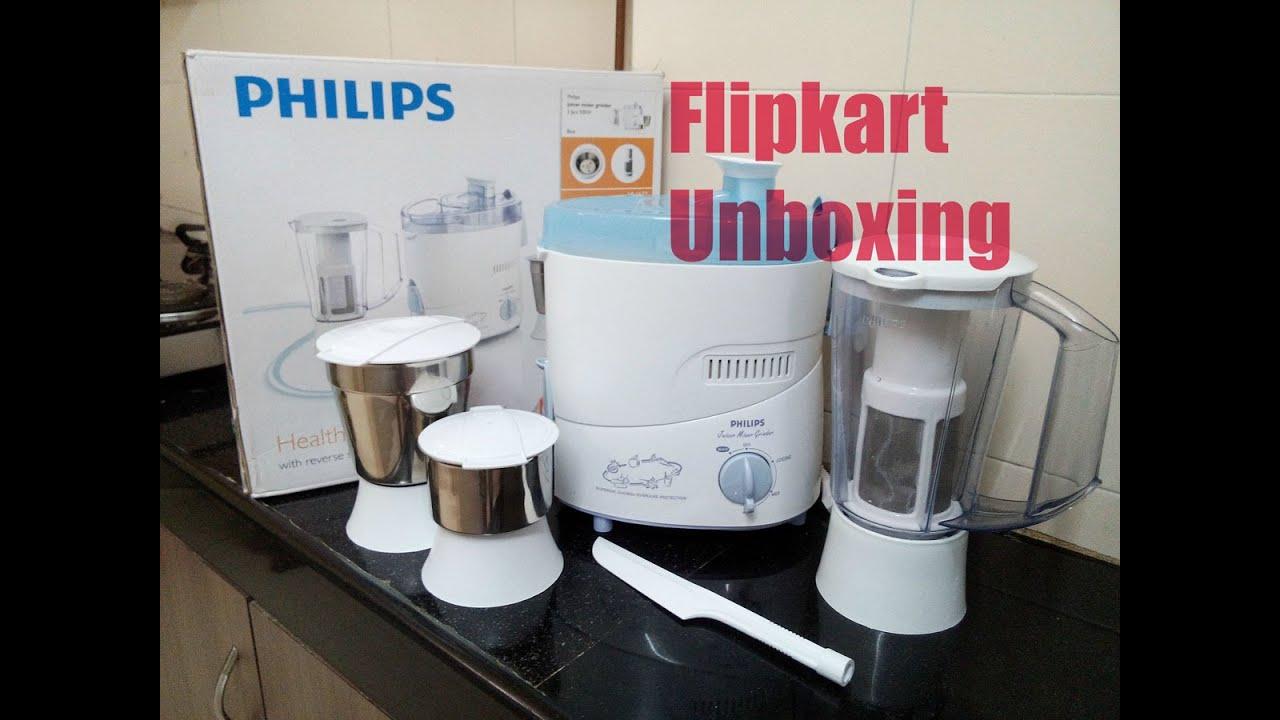5f65017db Philips HL1632 500 Juicer Mixer Grinder UNBOXING...flipkart Purchase ...