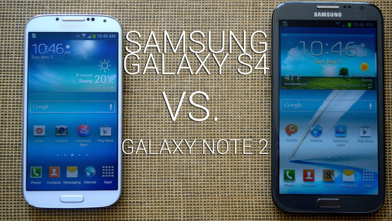 samsung galaxy s4 vs galaxy note 2 youtube. Black Bedroom Furniture Sets. Home Design Ideas