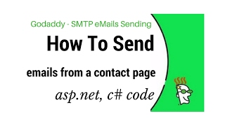 How To Send Godaddy SMTP eMail Setup Host & Port (asp.net, c#)
