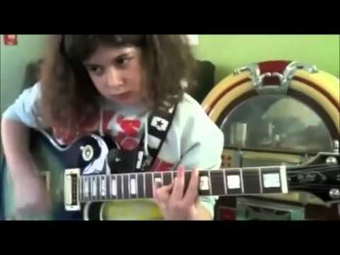 10 Year Old Ayla Gezmis Owns Guitar Like Jimmy Hendrix