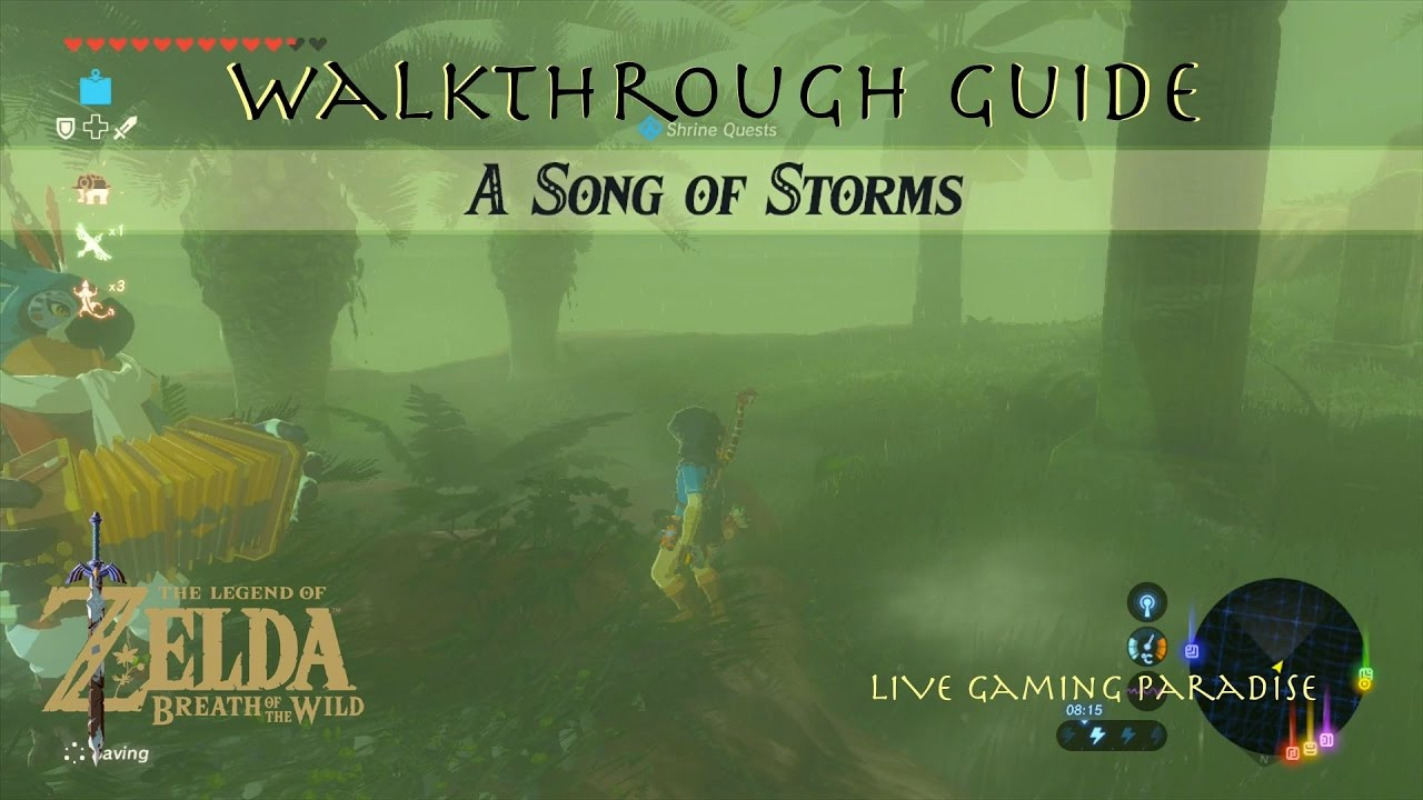 Breath Of The Wild A Song Of Storms Qukah Nata Shrine Guide