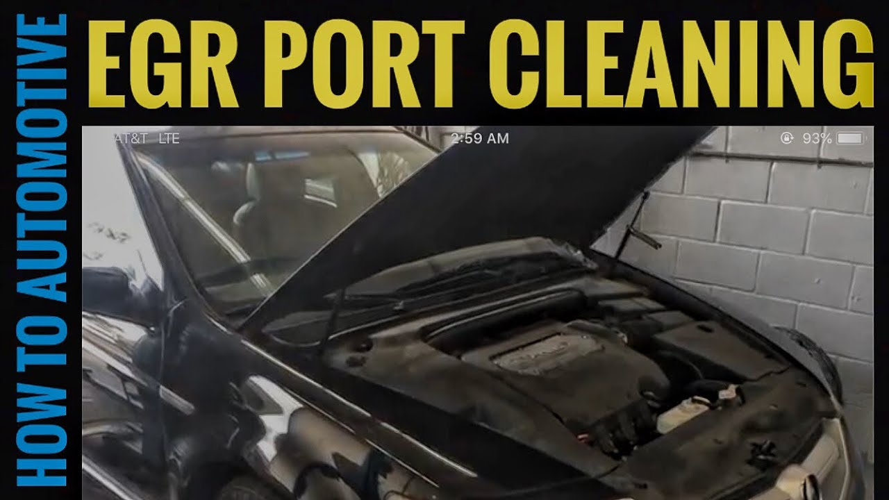 How To Clean Out The Egr Port On A 2004 2008 Acura Tl Code P0401 2000 Rl Obd Location Howtoautomotive Automotiverepair